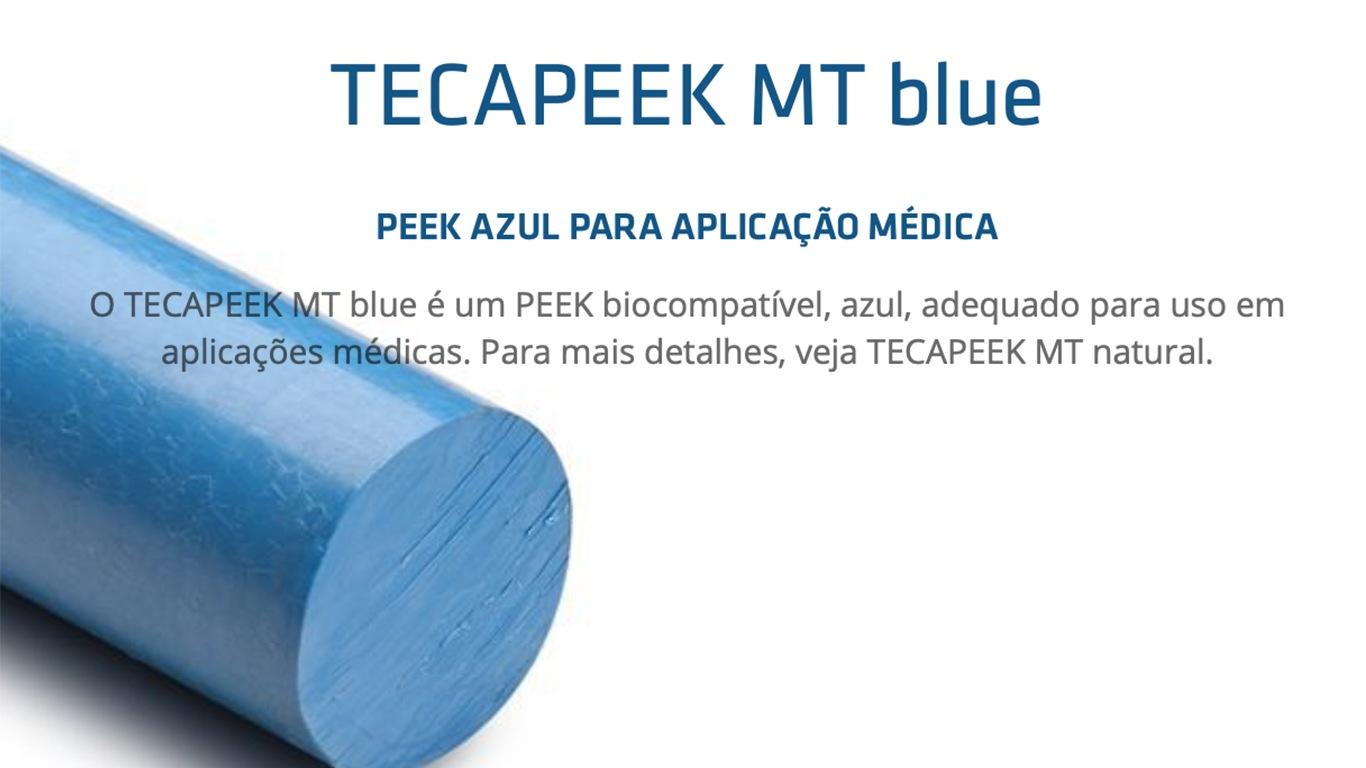 TECAPEEK MT blue – PEEK AZUL PARA APLICAÇÃO MÉDICA